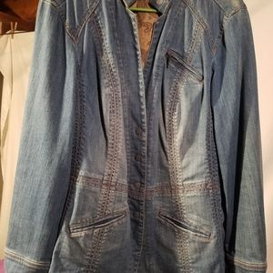 Peplum denim jacket Coldwater Creek 1X